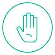 Medical glove line icon Stock Illustration