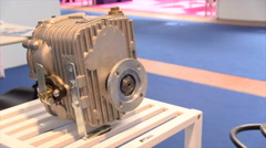 A piece of a marine engine  in exhibition at SEATEC 2016 Exhibition Stock Footage