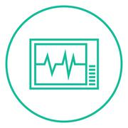 Heart monitor line icon Piirros