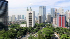 The streets of Jakarta Stock Footage