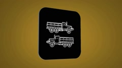 Vector Map intro - Farmer Truck - Transition Blueprint - yellow 02 Stock Footage