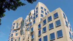 Frank Gehry designed building at Sydney's UTS University Stock Footage