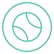 Tennis ball line icon - stock illustration