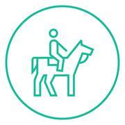 Horse riding line icon Stock Illustration