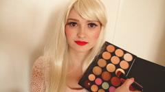 Makeup, contouring process Stock Footage
