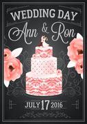 Wedding Chalkboard Poster - stock illustration