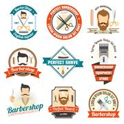 Barber Shop Sign - stock illustration