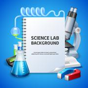 Science Lab Background - stock illustration