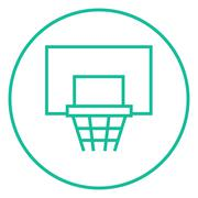 Basketball hoop line icon Piirros