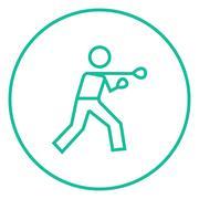 Male boxer line icon Stock Illustration