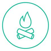 Campfire line icon Stock Illustration