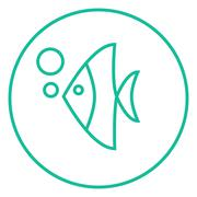 Fish under water line icon Piirros