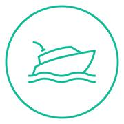 Yacht line icon Piirros