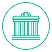 Acropolis of Athens line icon - stock illustration