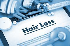 Hair Loss. Medical Concept - stock illustration