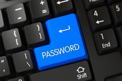 Password Blue Key Stock Illustration
