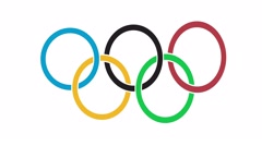 Olympic rings dancing loop Stock Footage