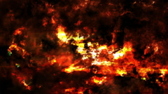 Abstract fire on grungy wall loop Stock Footage