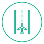 Airport runway line icon Stock Illustration