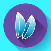 Two contact lenses icon. Flat design style. - stock illustration