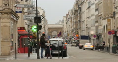 Porte Saint-Martin Paris, France Stock Footage