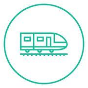 Modern high speed train line icon Piirros