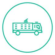 Fire truck line icon Stock Illustration