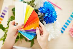 Choosing color for design - stock photo