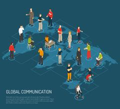 People Poster Of Global Communication Stock Illustration