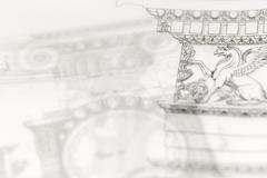 Architectural drawing - detail column Stock Photos