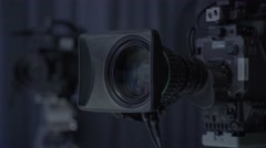 Lenses cameras which works in the Studio (refocusing) Stock Footage