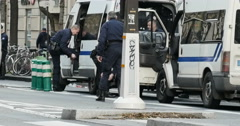 French police preparing for protest Stock Footage