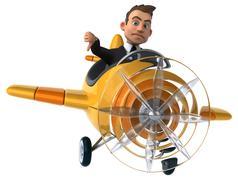 Fun plane - stock illustration