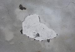 Damp moisture on wall - stock photo