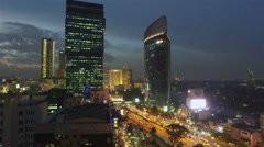 View of Jakarta at night Stock Footage