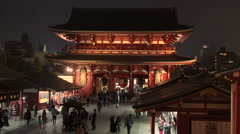 Temple Asakusa, Tokyo, Japan Stock Footage