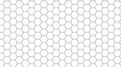 Hexagon Background Loop Ultra HD 3d - stock footage