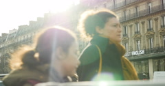 Paris France visiting city people - stock footage