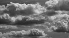 Bulky looking clouds Stock Footage