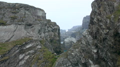 Massive cliff side Stock Footage