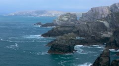Where cliffs begin - stock footage