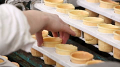 Automatic production line of ice cream Stock Footage
