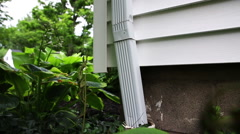Gutter Corner Downspout Rise Fast Stock Footage