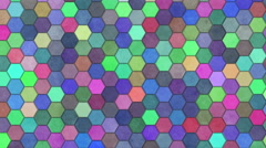 Hexagon Background Loop Full HD 3d Stock Footage