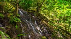 Mountain famous phuket island waterfall panorama 4k time lapse thailand Stock Footage