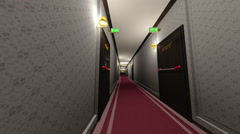 Stock Video Footage of Elegant Hotel Corridor Cinematic Dolly 3D Animation 2