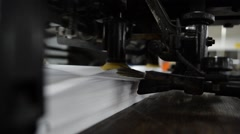 Offset paper machine - stock footage