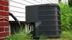 Air Conditioner and Chimney Lower Stock Footage