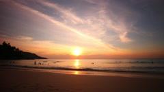 Phuket island cozy kata noi beach panorama 4k time lapse thailand Stock Footage