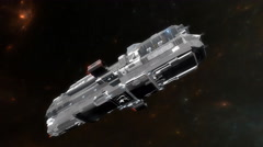 Sci-fi spaceship, star ship. Stock Footage